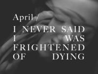 April 1 (uhmm bye Baskerville…)