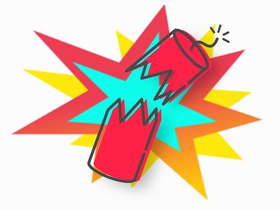 firecracker doodle colorful pow pop bam doodle firecracker