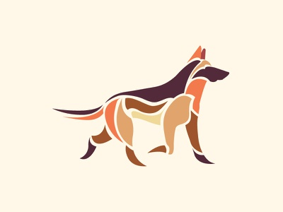 A dog illustration artwork german shepherd pets pet dogs dog
