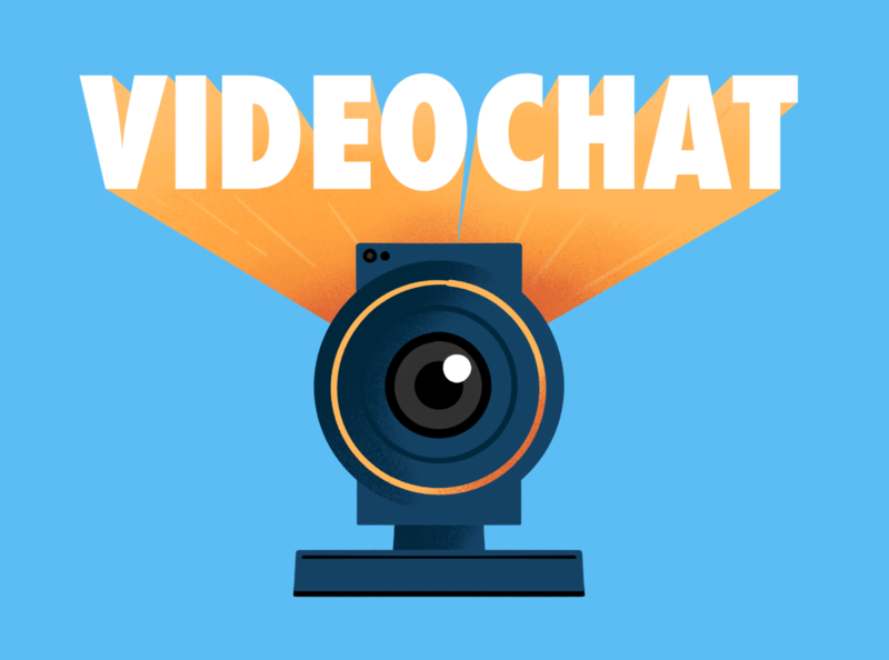 Video Chat videochat concept online procreate webcam illustration