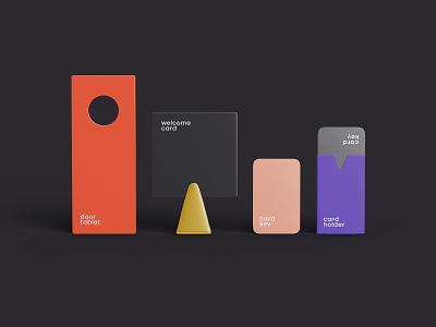 Hotel Mockup branding design minimalism mockup 3ds