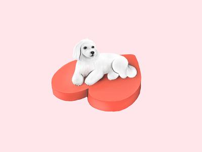 Lovely Dog Tezi tezigrooming illustration love dog