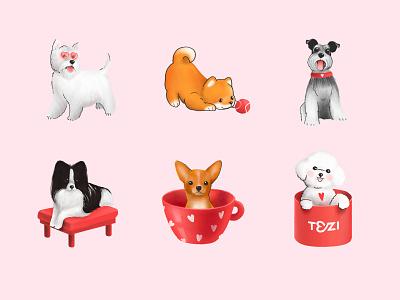 TEZI GROOMING DOGS illustration dog tezigrooming