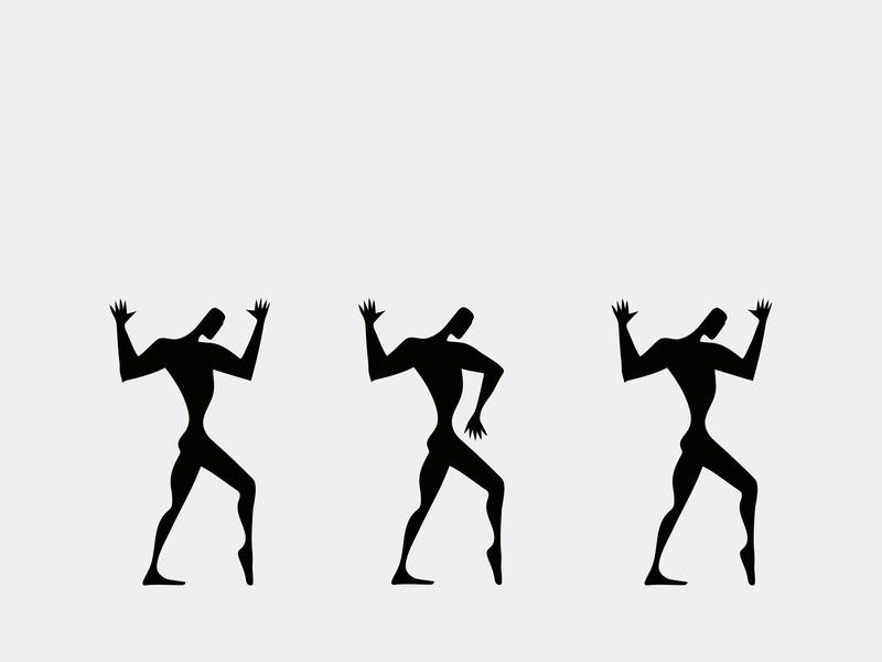 """Poster Collection Suprematism. """"Hike"""" наступление концепция балет танец театральная афиша логотип постер дизайн черный силуэт город абстракция яркий иллюстрация"""