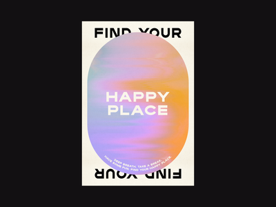 Happy Place gradient poster fun branding design typography