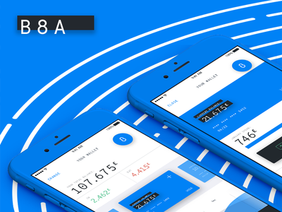B8A animation interface app ui ux finance banking behance website