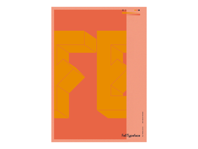 Fell Typeface — Big Glimpse typeface type poster design poster art