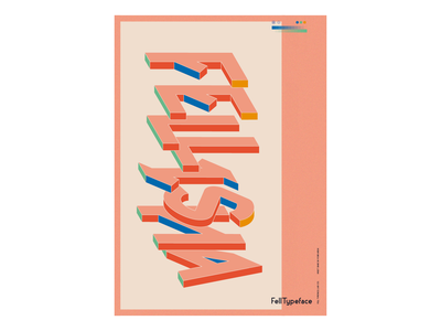 Fell Typeface — Hi Fellisha graphicdesign visuals design fun digitalart typeface design type poster design poster