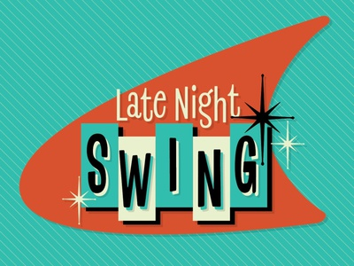 Late Night Swing - Logo Design vintage logotype logo logo designer music swing dance swing 50s 1950s retro logo design