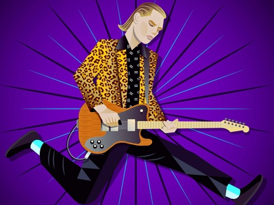 Alex Kapranos - Franz Ferdinand digital art vectorart portrait musician music guitar franz ferdinand alex kapranos vector portrait vector art vector