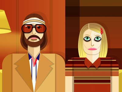 The Royal Tenenbaums wes anderson film movie person people vector portrait digital art vectorart vector art portrait vector