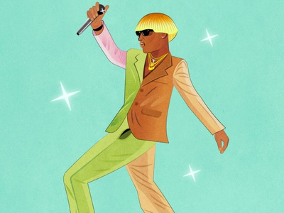Tyler, the Creator vector portrait portrait drawing digital art vector singer musician tyler the creator tyler