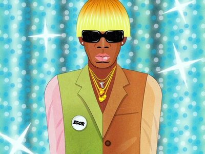 IGOR digitalart design illustration art vector illustration music art vector portrait music musician camp flog gnaw igor tyler the creator tyler