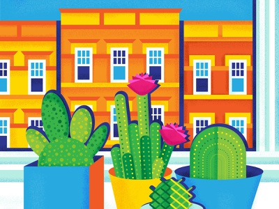 Ridgewood Plants illustration drawing nyc new york queens ridgewood cactus vector illustration design vector art vectorart vector plants