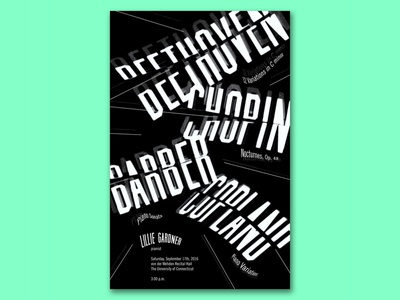 Piano Poster Designs lillie gardner pianist lillie gardner graphic design typography poster typographic poster type typography classical pianist piano series posters poster design poster