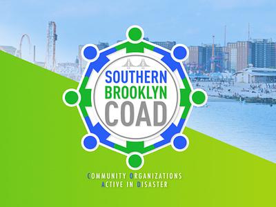 Southern Brooklyn COAD blue green freelance coad non-profit nonprofit community brooklyn coney island ferris wheel logo design logodesign logo southern brooklyn coad