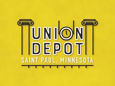 Union Depot - Logo Design Concept #6 typography graphic design transportation track train track depot train logo design logo