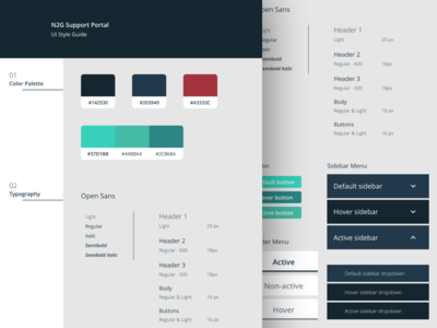 Style Guide company style guide colors ui elements style guide support portal ui