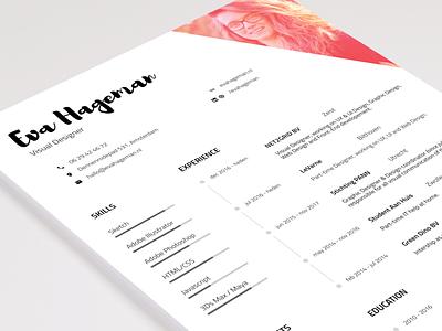 My Resume / CV clean branding brand print identity cover letter white resume typography resume cv curriculum vitae
