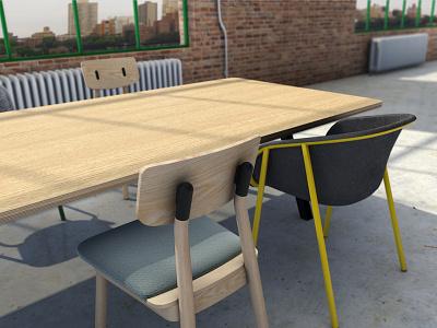 3D Interior 3ds max furniture table interior design 3d