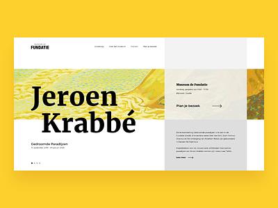 Museum De Fundatie concept design ux concept redesign yellow art website principle golden ratio museum webdesign web animation ui