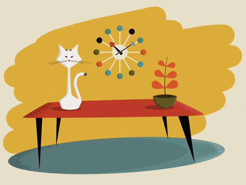 Mid-century Cat