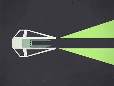 Tie Fighter minimalist illustration tie fighter starwars vector