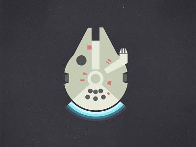 Millennium Falcon minimalist illustration falcon millennium falcon starwars vector