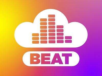 Streaming Music Startup Logo streaming cloud music beat day8 logo dailylogochallenge dailylogo vector