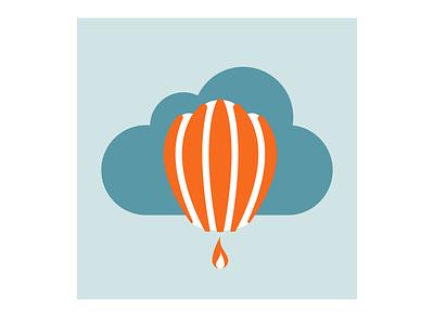 Hot Air Balloon Logo day 1 balloon hot air balloon logo dailylogochallenge dailylogo vector