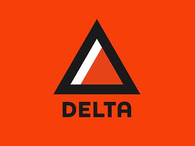 Geometric Logo triangle delta minimalist logo dailylogochallenge dailylogo vector
