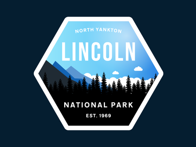 National Park Logo day 20 lincoln national park logo dailylogochallenge dailylogo vector
