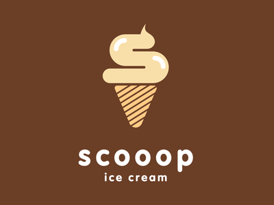 Ice Cream Company Logo day 27 scooop ice cream minimalist logo dailylogochallenge dailylogo vector