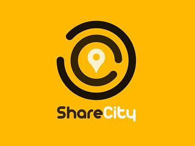 Rideshare Car Service Logo sharecity rideshare day 29 logo dailylogochallenge dailylogo vector