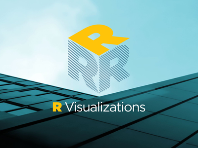R Visualizations Logo typography r visualizations architects logocore logo dailylogo vector