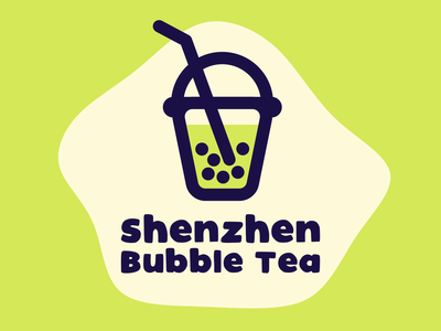 Shenzhen Bubble Tea Logo drink shenzhen bubble tea logocore illustration minimalist logo dailylogo vector
