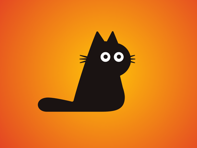 Sunday Cat Doodle minimalist vector cat