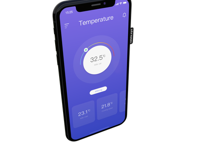 Temperature sketch app schiy ui