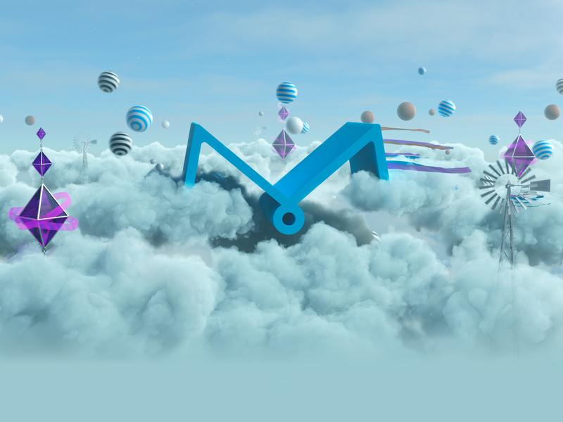 Muse Animation (skyworld) skyworld sky clouds logo redshift houdini 3d