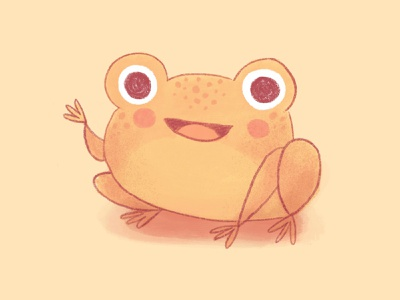 Cane toad childrens book art kidlitartist frog toad childrens book illustration kidlitart character design texture cute illustration
