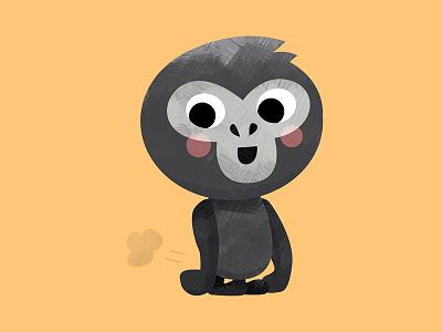 Bwindi the Gorilla monkey texture textures character vector digital gorillas character design animal art animal gorilla cute illustration