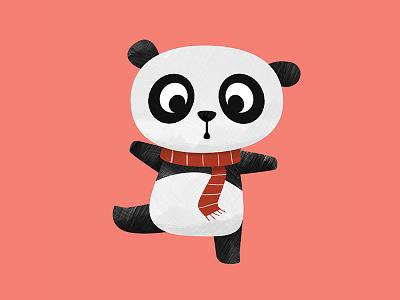 Ya Ya the Panda childrens book illustration children art animal art animals panda textures art texture character character design digital vector cute illustration