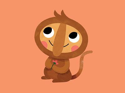 Putu the Proboscis Monkey kid lit art kids books jungle monkeys kids album album art dan sultan monkey kids art animals art texture character character design digital vector cute illustration