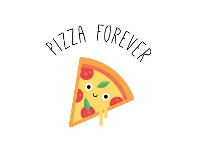 Happy National Pizza Day! illustration art art design food character digital vector cute illustration pizza