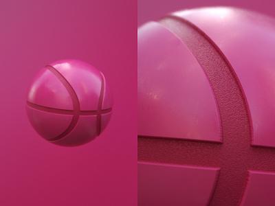 Dribbble Ball c4d 3d