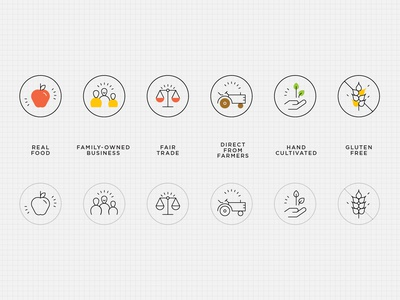 Natural Food Icons sustainable organic healthy food icons simple natural food icons gluten free real food line icon fair trade iconography outline food icons food value icons
