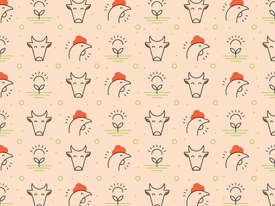 Cruelty-free farming pattern cage-free icon sustainably farmed icon farming pattern food icons farming icons sustainability icons organic icons illustration green pattern food business icons line icons icon pattern