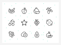 Minimal Fruit and Berry Icons