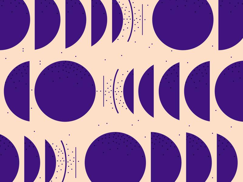 Purple dynamics motion abstract dynamic pattern bold small dots shape pattern purple minimal illustration flat geometric pattern circle pattern