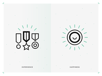 Experience & Happiness icons